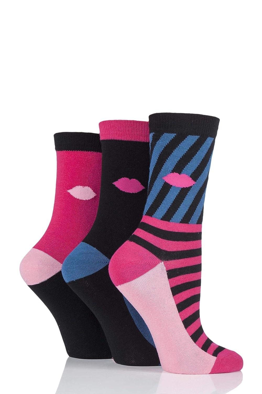 Ladies 1 Pair LuLu Guiness Doll Cotton Socks