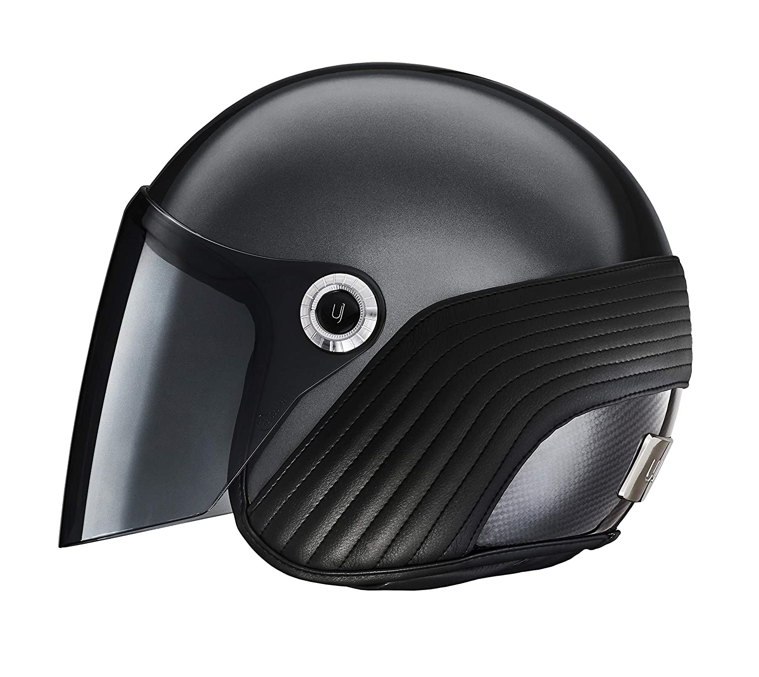 From top Fashion Designer Scooter Lightweight Carbon Motorcycle riders and Bikers XXL, Uptown Black Ujet Premium slim open-face Helmet Motorbike For Moped
