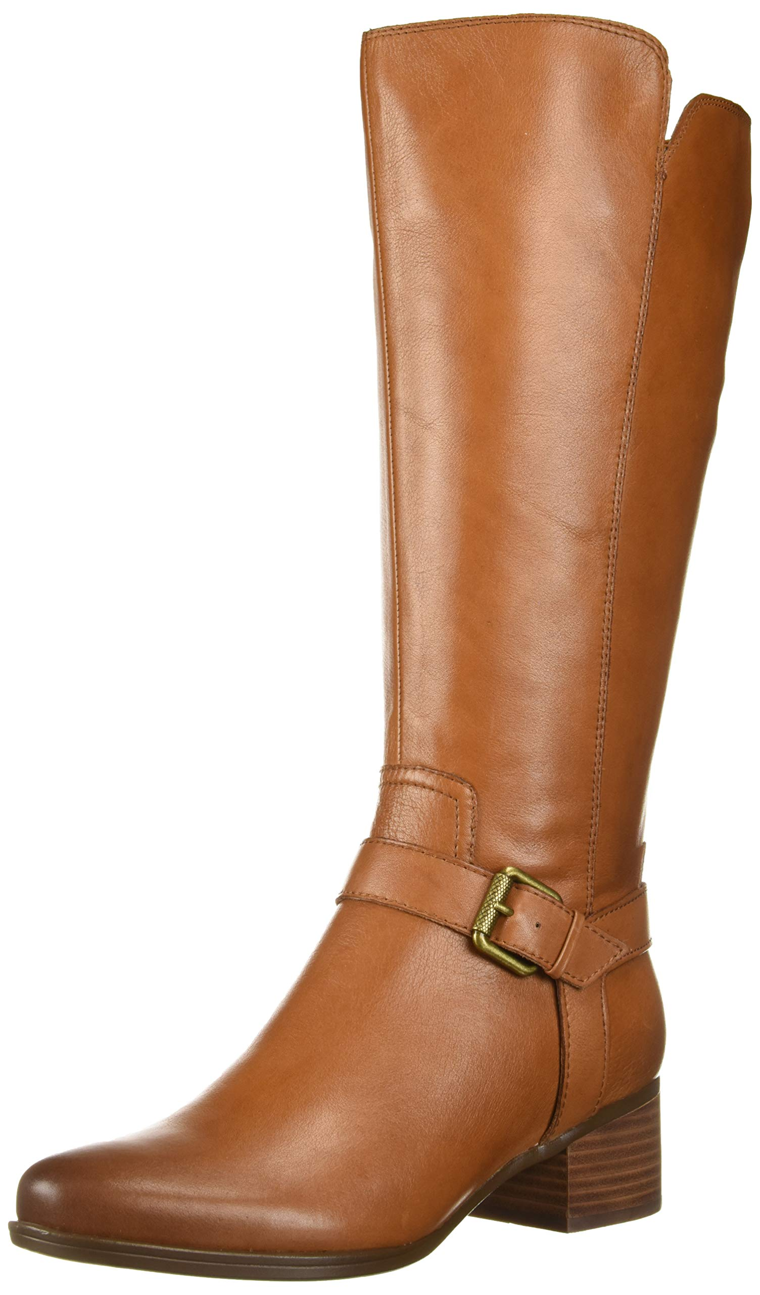 Naturalizer Women's Dalton Wide Calf Knee High Boot, Light Maple wc, 7.5 M US by Naturalizer