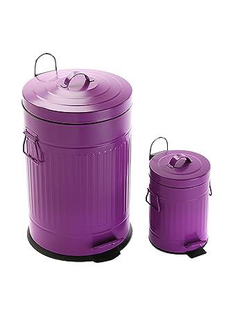 Wundervoll Abfalleimer RETRO-Küche aus Metall violett – 20L: Amazon.de: Küche  MV19