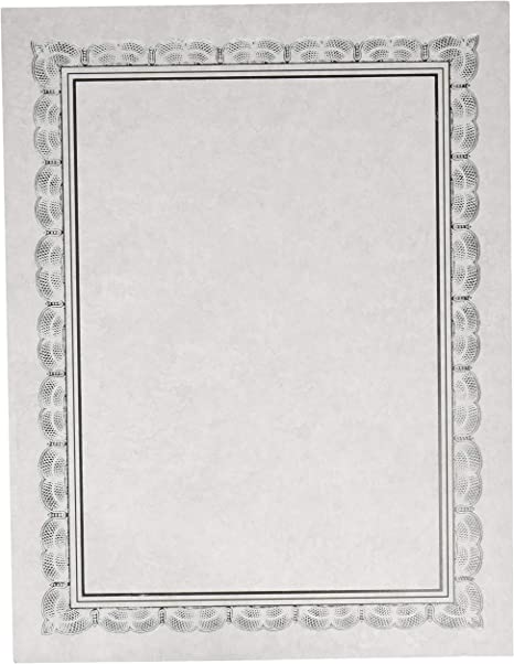 Pack of 15 Gartner Studios Foil Award Certificates Aluminium Trim SEALED PACK