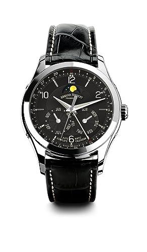 f85195f2d Armand Nicolet 9742B-NR-P974NR2 - Reloj, correa de cuero color negro:  Amazon.es: Relojes