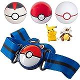 Pokémon Clip 'N' Go Belt Set with 3 Poké Balls & 2 Figures - Includes Pikachu and Cubone Figure - Holds Up to 6 Pokeballs - A