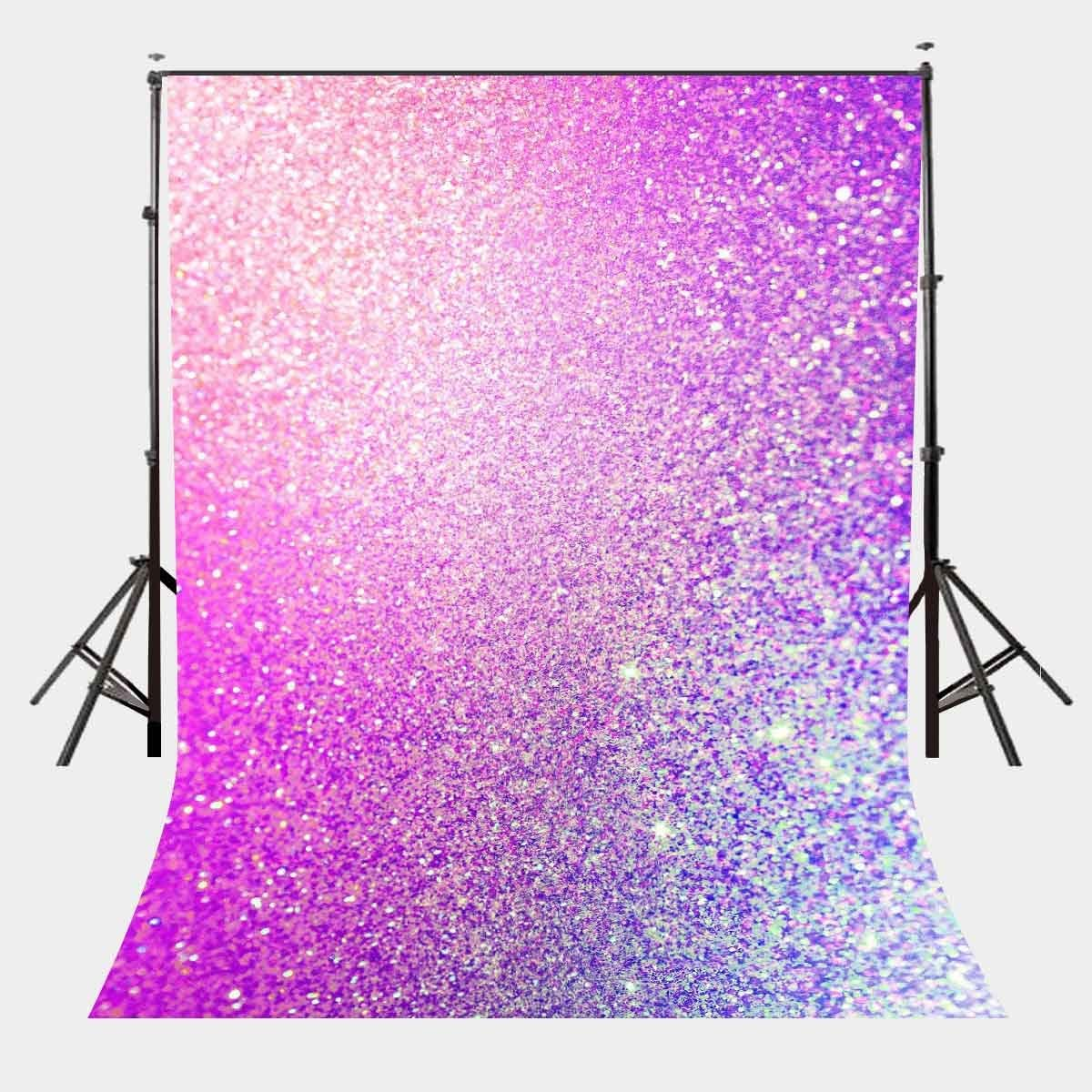 LYLYCTY 5X7ft Polyester Customized Backdrop Twinkling Sequins Photography Background Color of The Year 2018 LYLX075