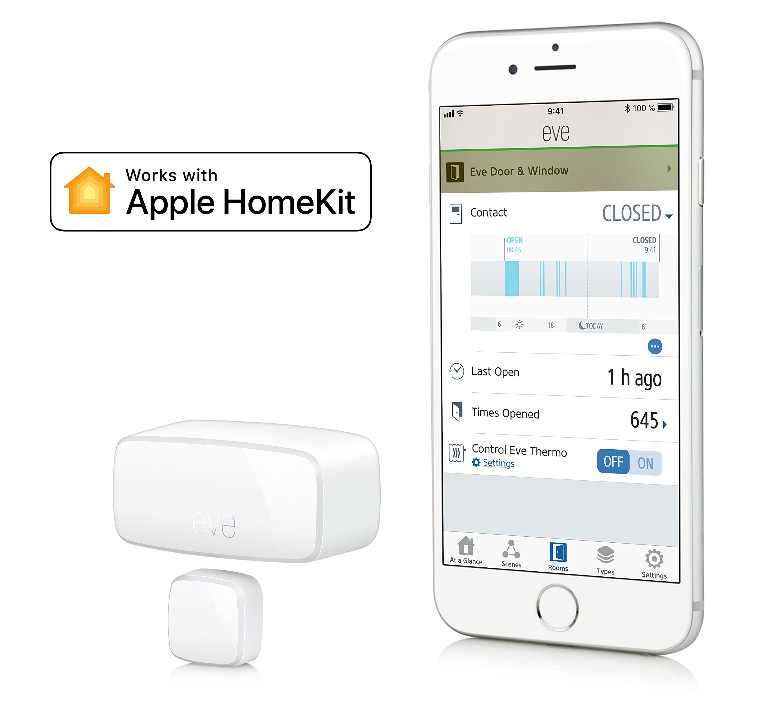 Eve Door & Window - Wireless contact sensor with Apple HomeKit technology, Bluetooth Low Energy by Elgato (Image #2)