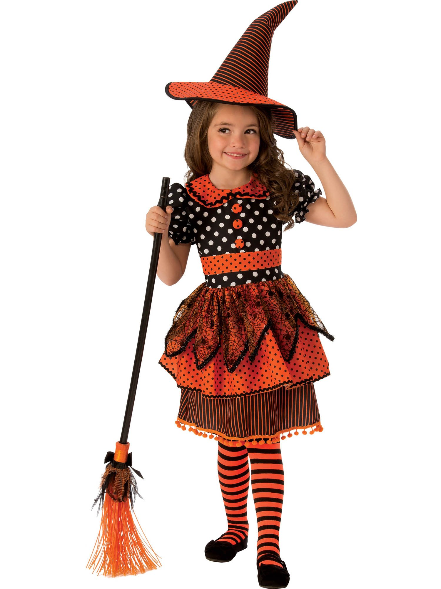 - 81BWF9dQPCL - Rubie's Costume Co – Girls Polka Dot Witch Costume