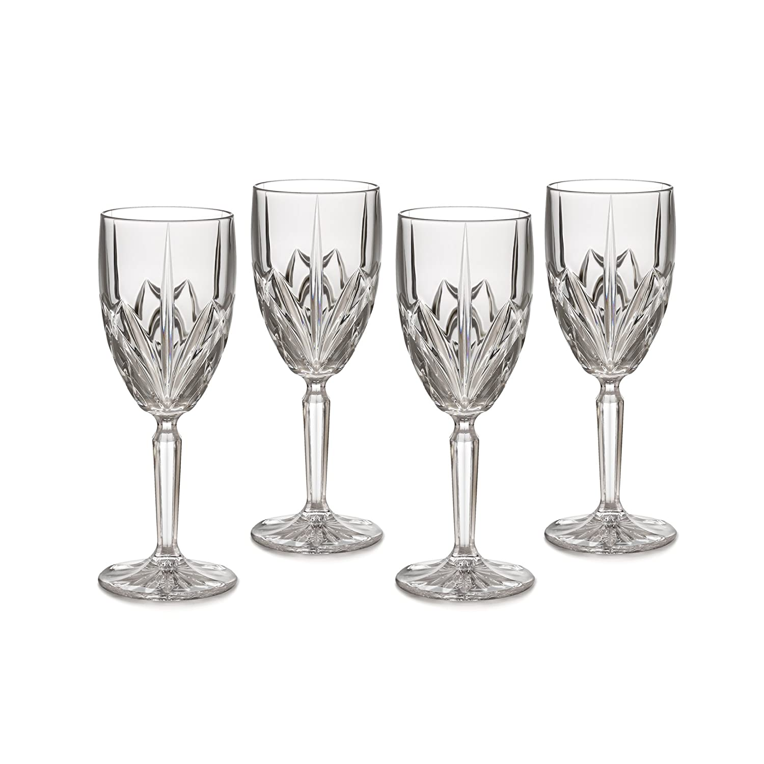 amazoncom marquis by waterford brookside 8ounce white wine glass set of 4 brookside wine glasses champagne glasses - Waterford Crystal Wine Glasses