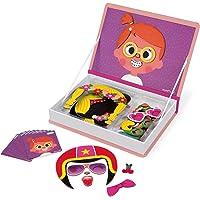 Janod - J02717 - Magnéti'book Crazy Faces fille, 55 Magnets