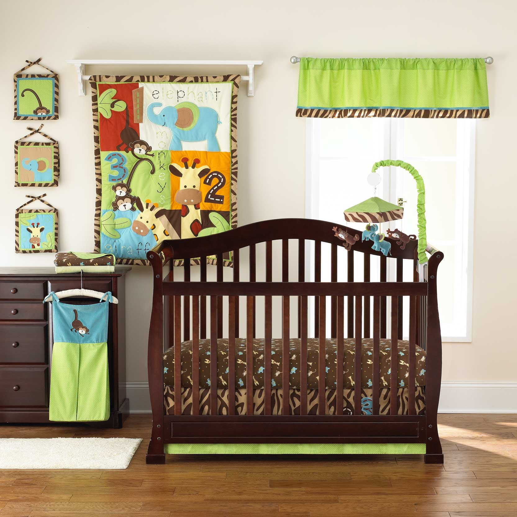 Too Good by Jenny McCarthy Zoo Zoo 4 Piece Reversible Crib Bedding Set