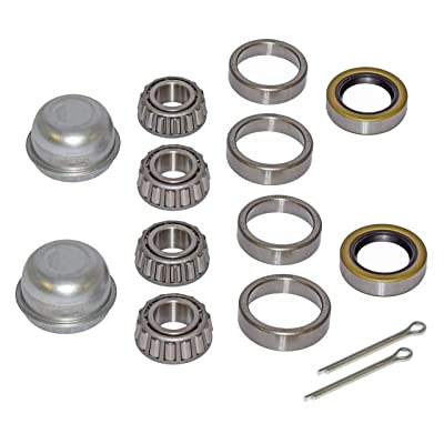 Pair of Trailer Bearing Repair Kits for 3/4 Inch Straight Spindles: Sports & Outdoors
