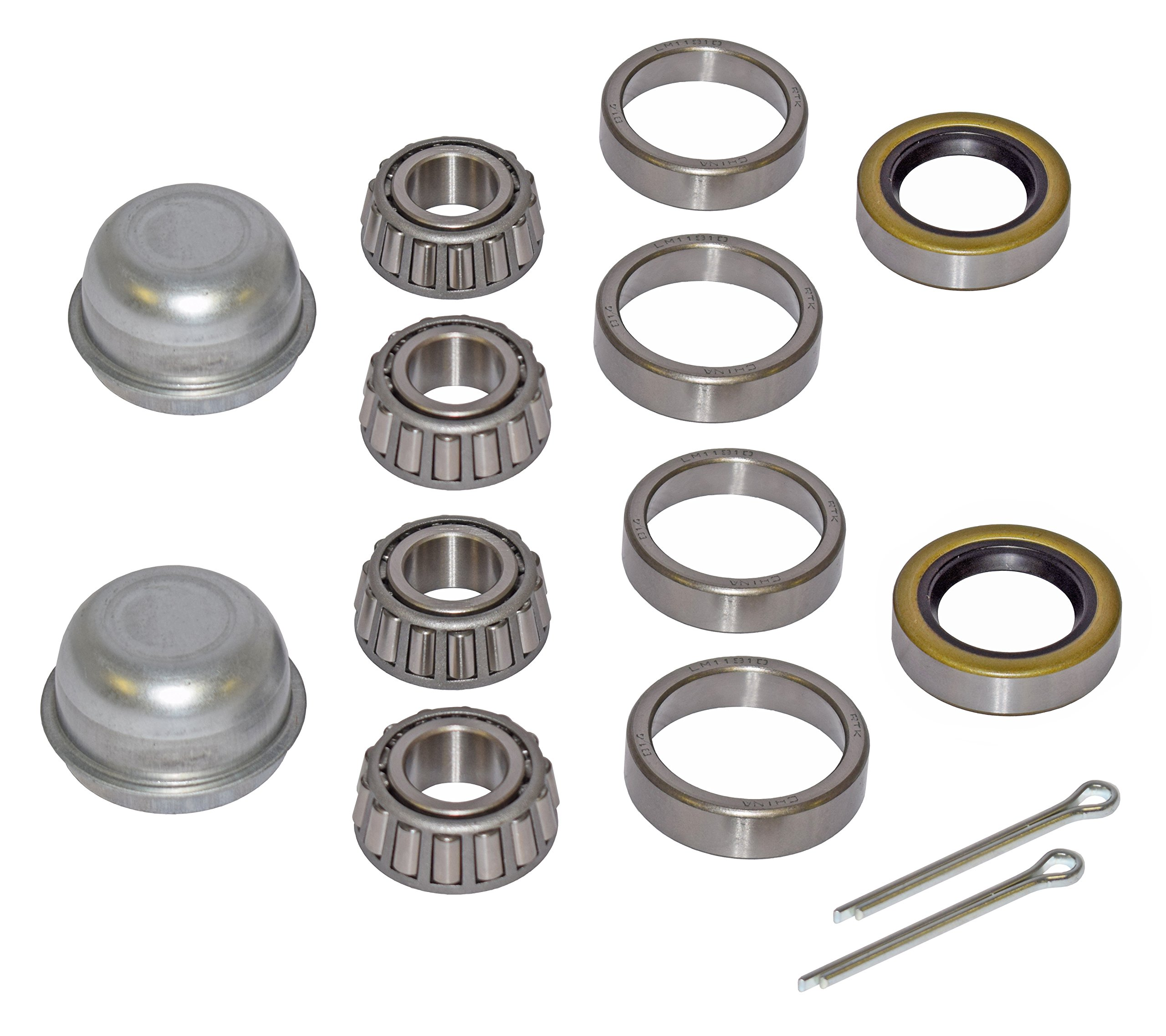 Pair of Trailer Bearing Repair Kits for 3/4 Inch Straight Spindles by Rigid Hitch