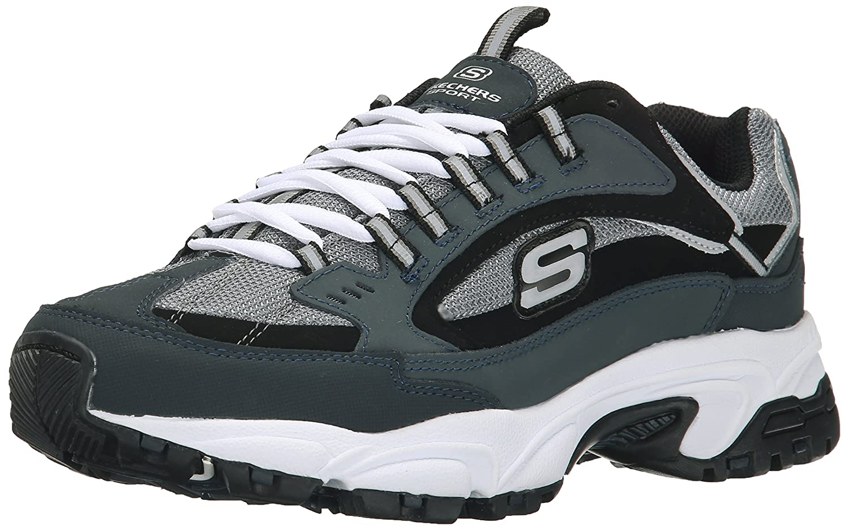 Navy Cutback Skechers Sport Men's Stamina Nuovo Lace-Up Sneaker