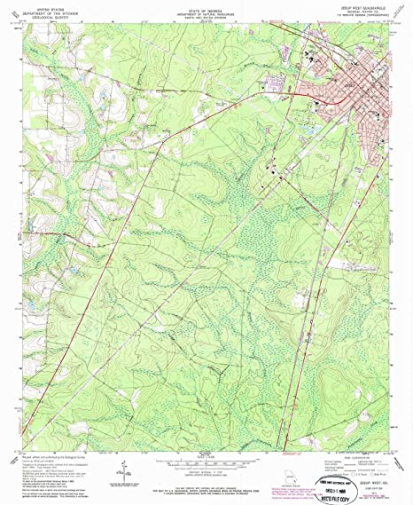 Map Of Jesup Georgia.Amazon Com Yellowmaps Jesup West Ga Topo Map 1 24000 Scale 7 5 X