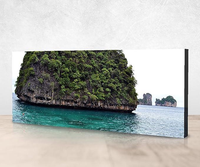 wandmotiv24 Cuadro de Lienzo Atolón en Las Islas Phi Phi 40x20cm (Ancho x Alto) Panoramabild Fotoleinwand Art Prints Canvas Art Photo Regalos Regalos ...