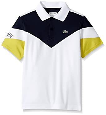 c980efee33fabd Amazon.com  Lacoste Boys Short Sleeve Colorblock Polo  Clothing