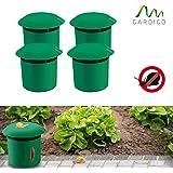 Gardigo Schnecken-Falle 4er Set   Bio Schneckenschutz für den Garten   Umweltfreundliche Schneckenbekämpfung   Sicher und Effizient   Deutscher Hersteller