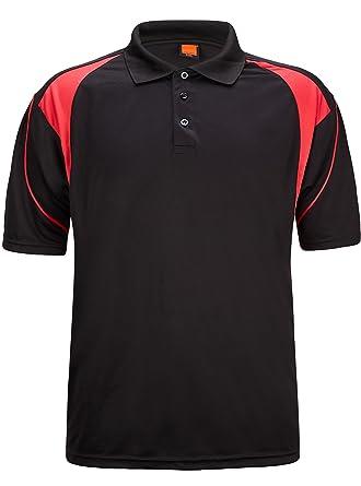 54e2e18f3c6 ZITY Sportswear Men's Quick-Dry Sweat-Wicking Sport Shirt Black US XS/Label