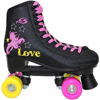 Cox Swain Kids Roller Skates -JAM2- Quad Roller Skates- ABEC5, Colour: Black, Size: 40