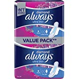 Always Diamond Ultra Thin, Extra Long sanitary pads, 12 count