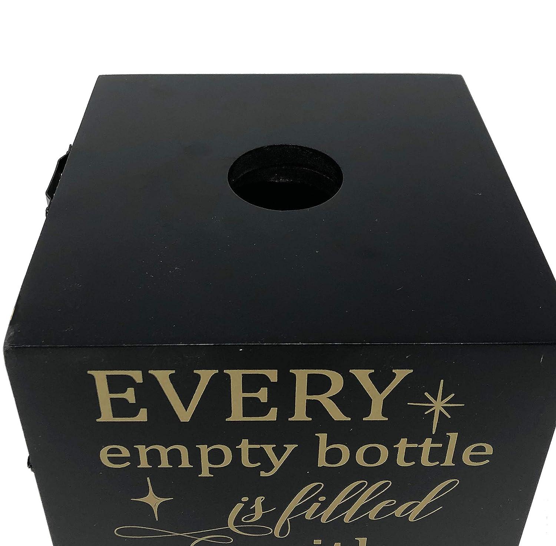 Amazon.com: Caja de sombra de corcho de vino y estuche de ...