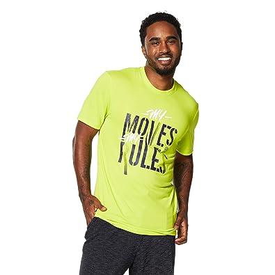 Zumba Fitness® Z2T00265 - Camisetas, Color Verde, Talla L