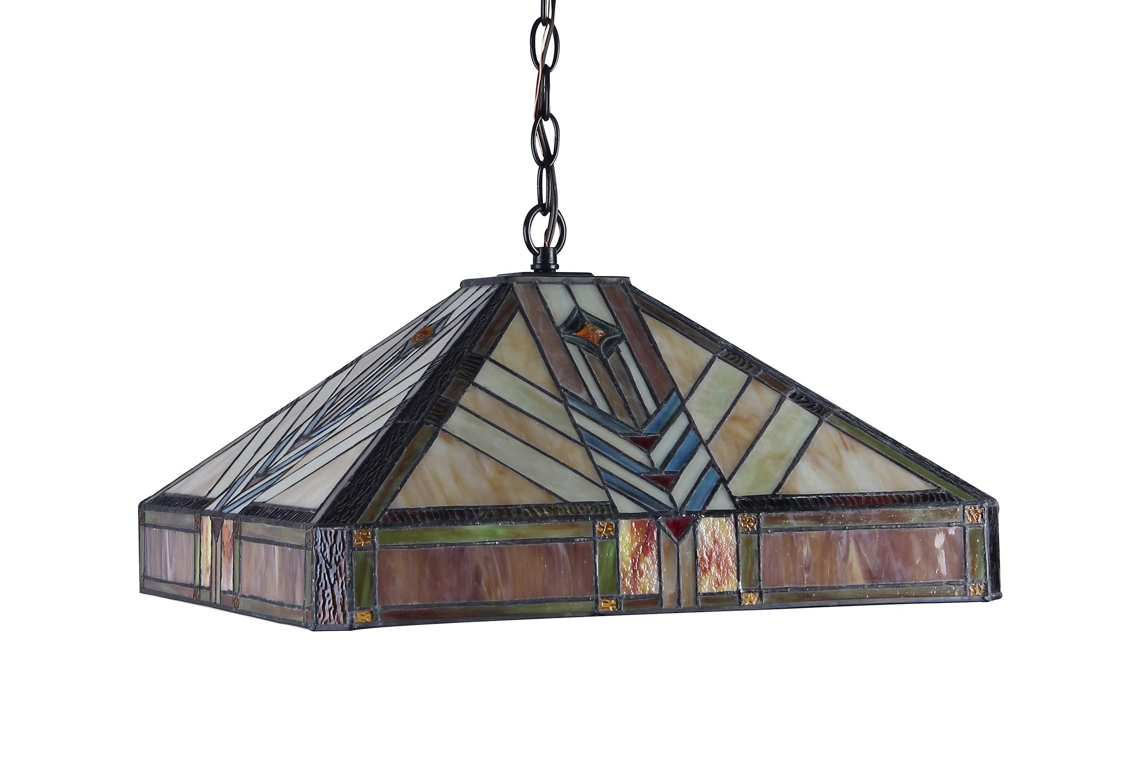 Chloe Lighting CH33422IM18-DH2 Edward Mission 2-Light Ceiling Pendant, 18-Inch, Multi-colored by Chloe Lighting (Image #2)