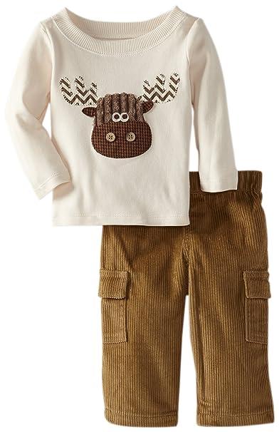 Amazon.com: Mud Pie Baby Boys Moose Pant Set: Clothing