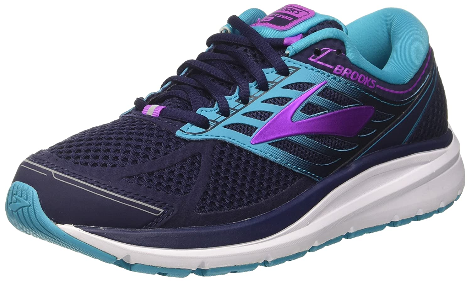 Brooks Womens Addiction 13 B01MSJLJ1W 7.5 EE US|Evening Blue/Teal Victory/Purple Cactus Flower
