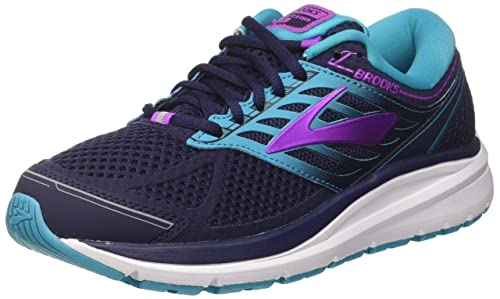 c13778e9b9b4f Brooks Women s s Addiction 13 Running Shoes Blue  (EveningBlue TealVictory Purple 1B456) 3.5
