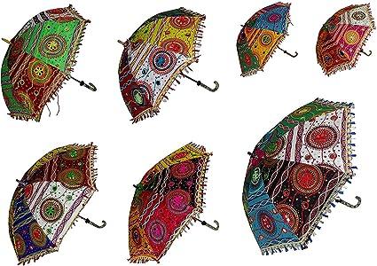 10 PCS Lot Indian Traditional Wedding Decorative Handmade Sun Umbrella Parasols
