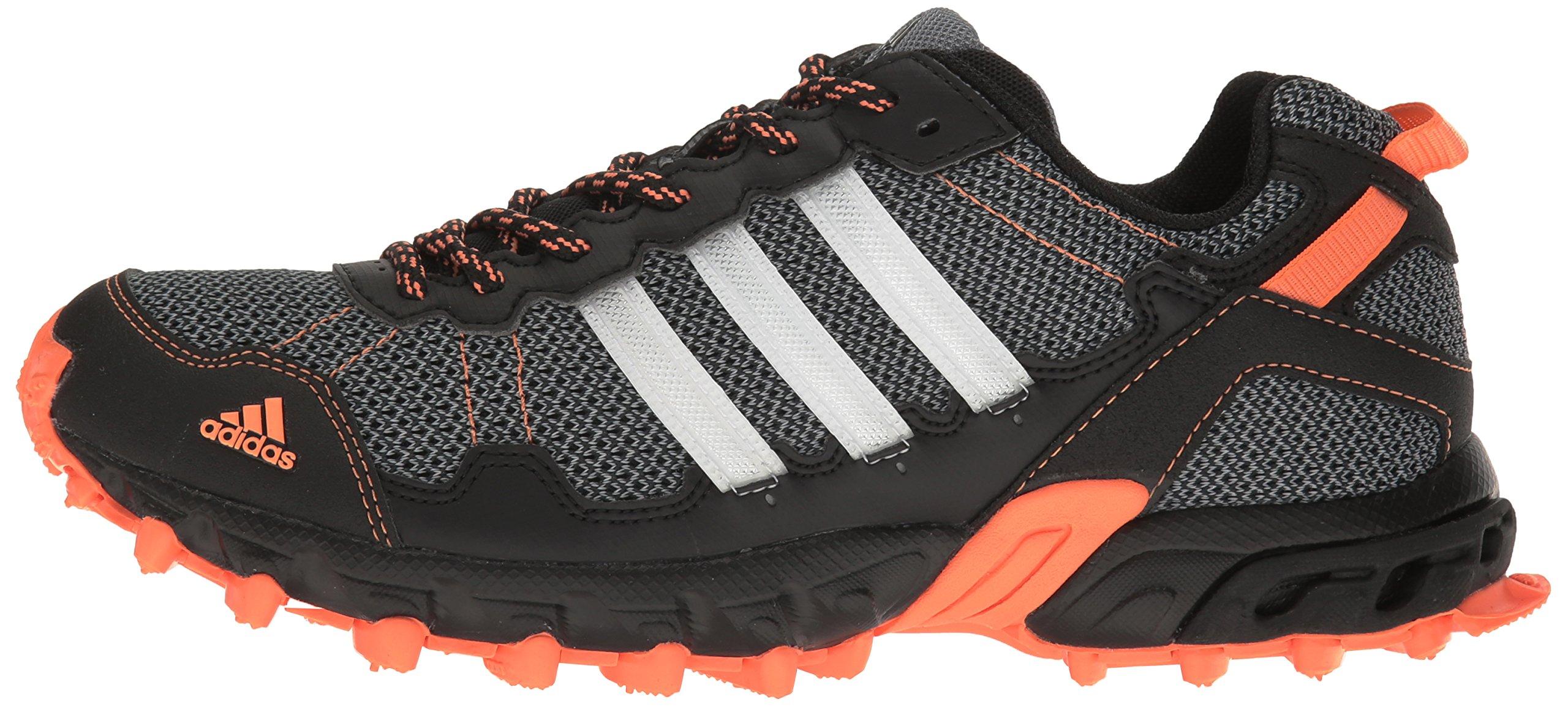 adidas Women's Rockadia Trail W Running Shoe Black/White/Easy Orange 6 M US by adidas (Image #5)