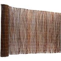 casa pura® Weidenzaun Sichtschutz - Fachhandel-Qualität - kürzbar, rostfrei - Weidenzaunmatte Weidenmatte - Weiden Sichtschutzmatte - Natur Sichtschutz aus Holz - viele Größen