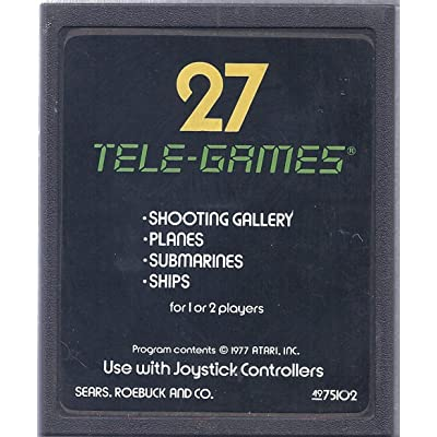 Atari Video Computer System Cartridge - 27 Tele-Games: Video Games
