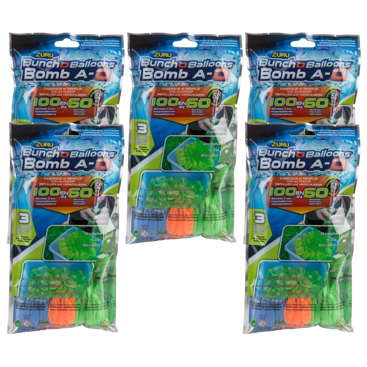 Splash Toys Original Bunch O Balloon 100/Bombes /à Eau Temporis/é Lot de 5
