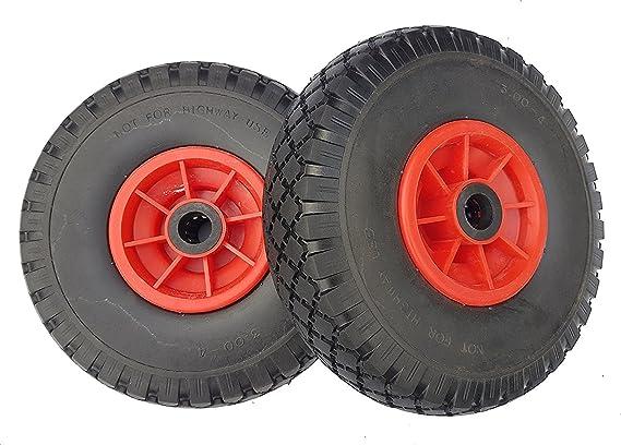 2 ruedas de repuesto para carretilla 3.00 - 4 (2 P.R), 260 x 85 mm: Amazon.es: Bricolaje y herramientas