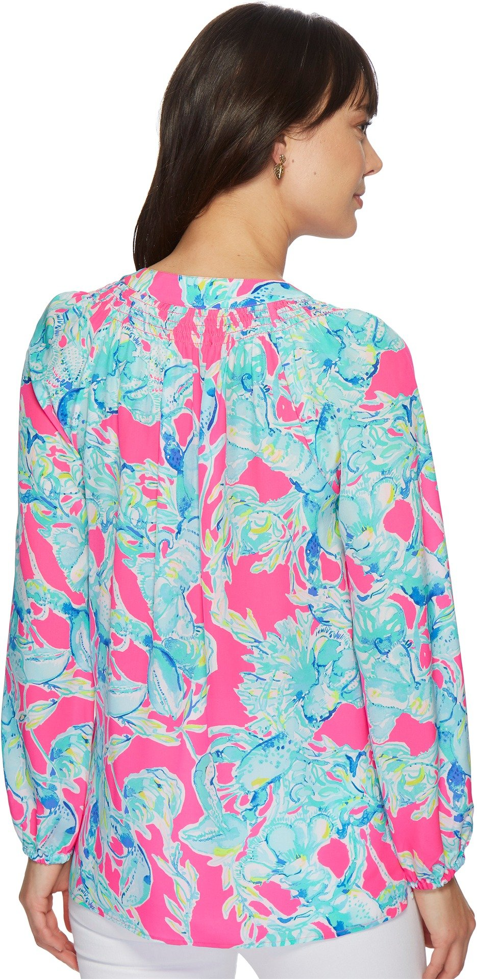 Lilly Pulitzer Women's Elsa Top Raz Berry Lobsters in Love Small by Lilly Pulitzer (Image #3)