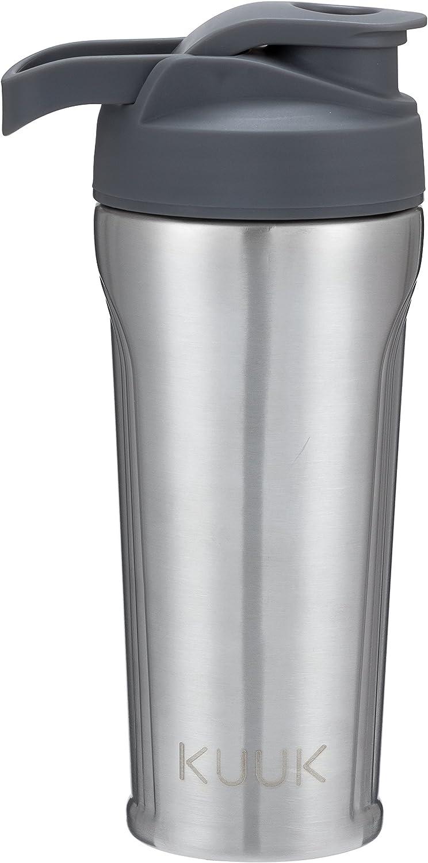 Kuuk Stainless Steel Protein Drink Shaker Water Bottle - 31oz (Gray)