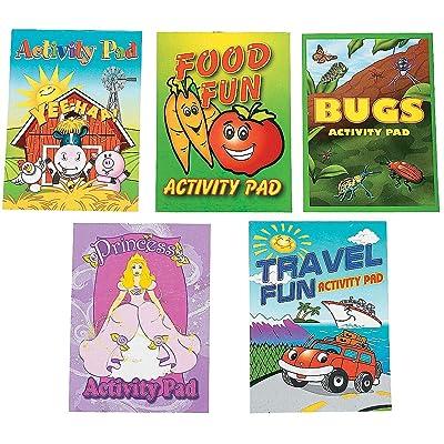 Fun Express Activity Pad Assortment (144 pc): Toys & Games