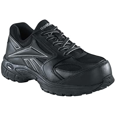 Brand New Reebok RB4897 Men's Black w/ Silver Trim Ateron Work Shoes