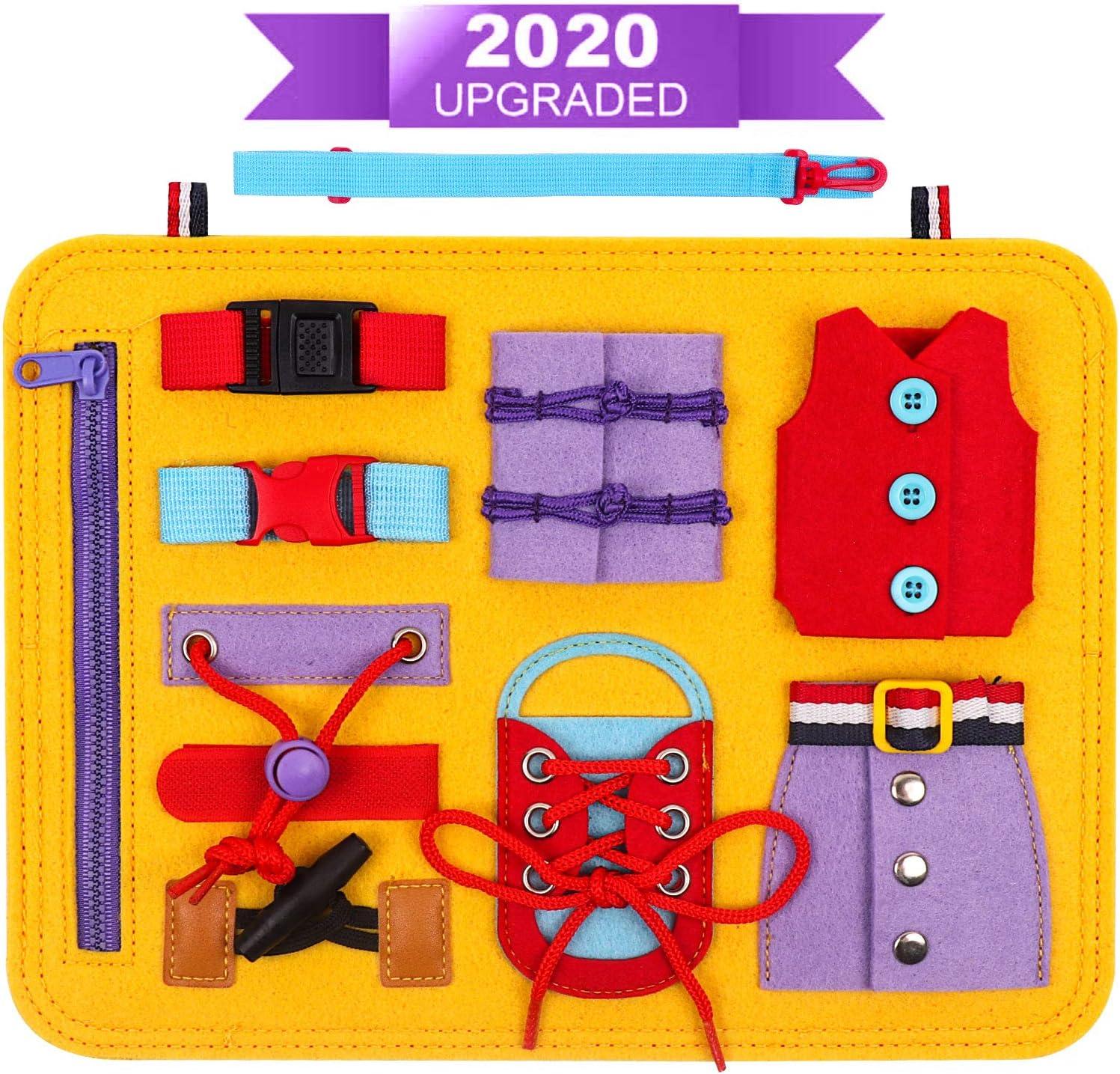 DigHealth Busy Board, 2 Años Juguetes Educativos para Aprender a Habilidades Básicas Vestirse, Juguetes Montessori para Niños de 1 2 3 4 Años