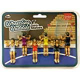 NPW-USA NPW54927 Drinking Buddies Cocktail/Wine Glass Markers, Wrestling