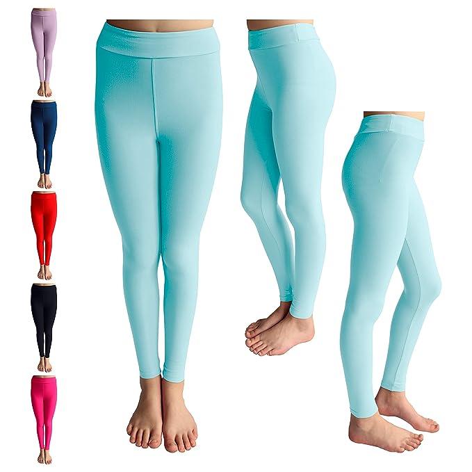 f5fc18d4d5811 POPINJAY Premium Soft Girls Leggings - Best High Waist Ankle Length 4-Way  Stretch Legging