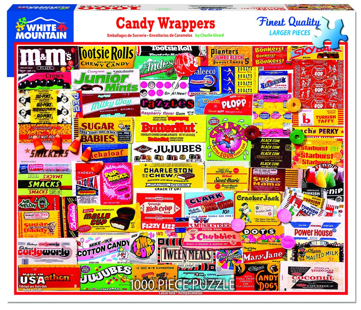 White Mountain Puzzles Candy Wrappers 1000Piece Jigsaw Puzzle