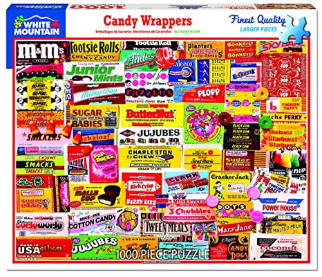 6bd2ac3ca Amazon.com: White Mountain Puzzles Candy Wrappers - 1000Piece Jigsaw  Puzzle: Toys & Games