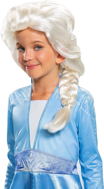Amazon.com: Disguise Elsa - Peluca infantil, color blanco ...