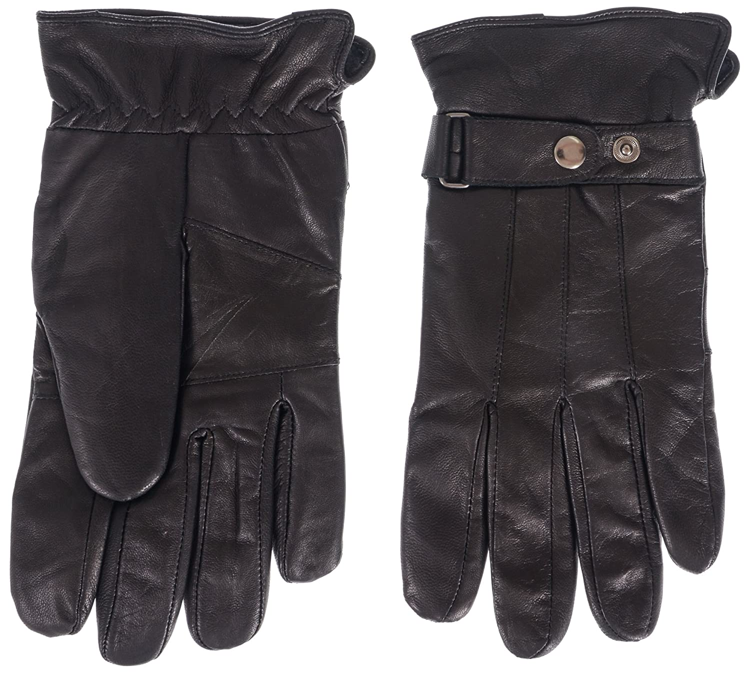 Klondike Men's Pieced Leather Glove with Adjustable Strap