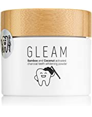 Gleam Bamboo & Coconut Activated Teeth Whitening Charcoal Powder Organic Mint Flavour | Manufactured in The UK