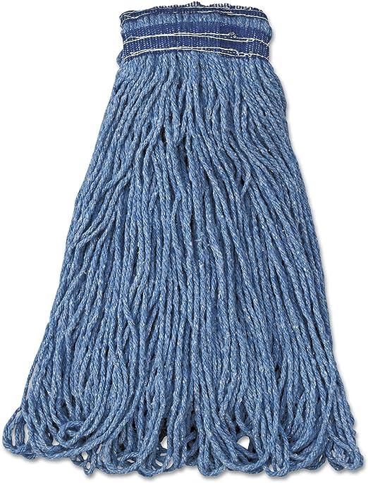 Rubbermaid Commercial Products 32oz Cut-End Wet Mop Head Cotton /& Synthetic Blue