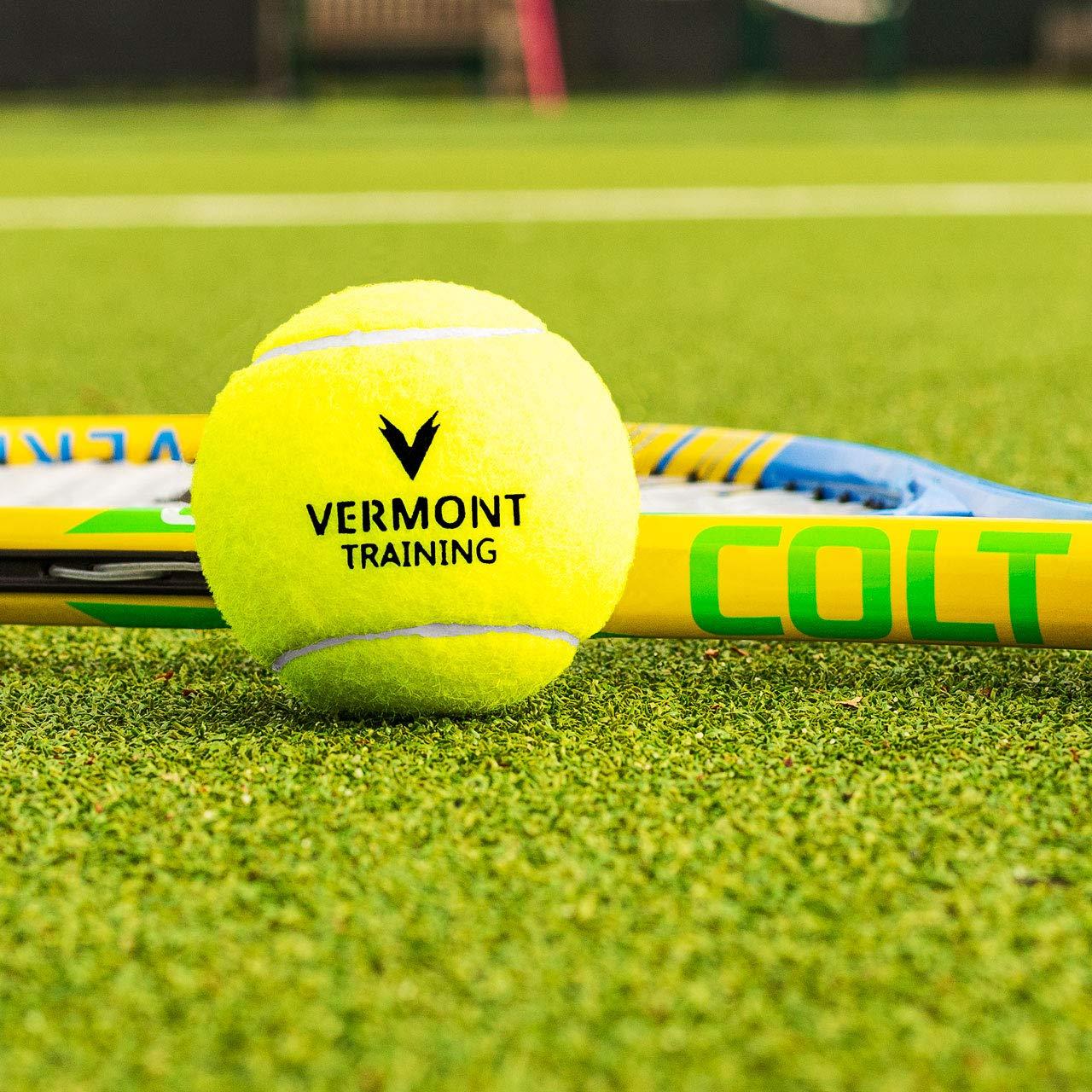 Pelotas Sin Presi/ón Vermont Pelotas de Tenis para Entrenamientos Cubo de 60 Pelotas