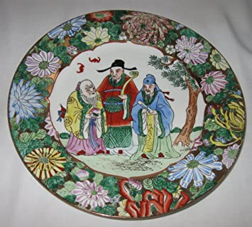 Decorative Chinese Plate Oriental Style 10.5 inches : decorative plates amazon - pezcame.com